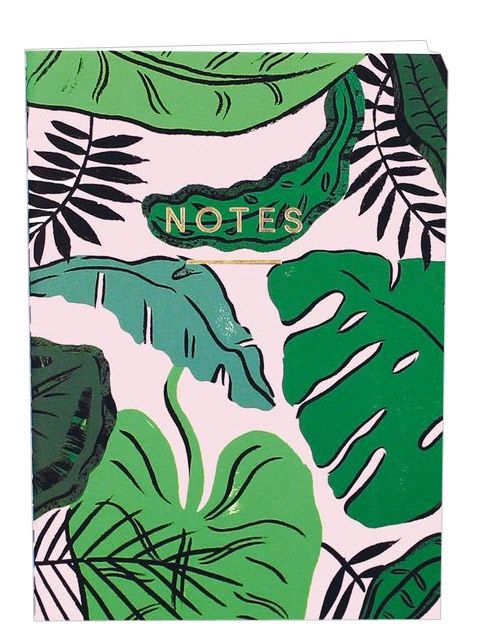 Tropical Leaves Mini Notebook by Wrap Paper