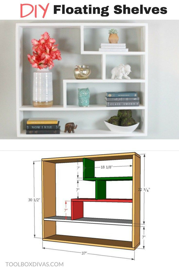 diy floating shelf/bookshelf /bookcases with changeable