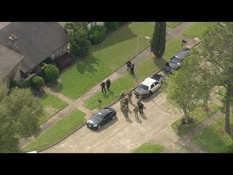 Two Houston police officers shot, one critical