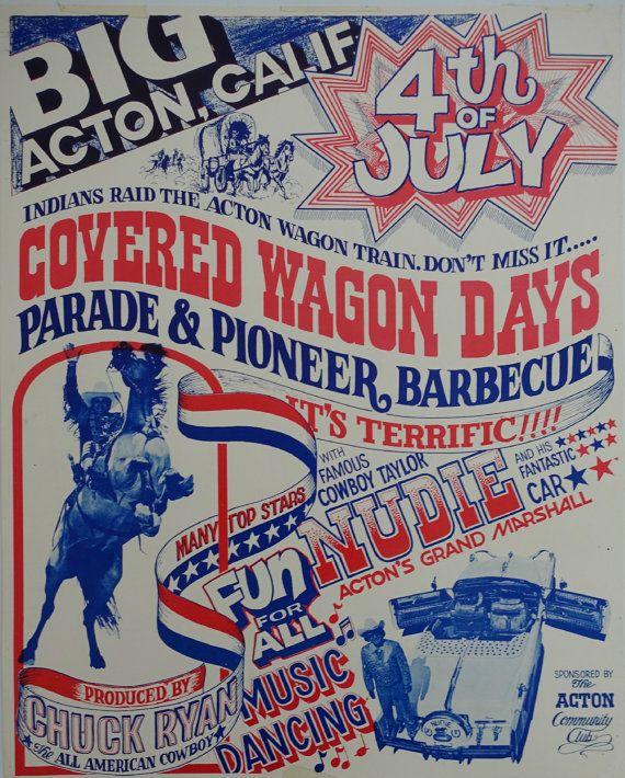1970s 4.th of July Cowboy Show  Original by OutofCopenhagen