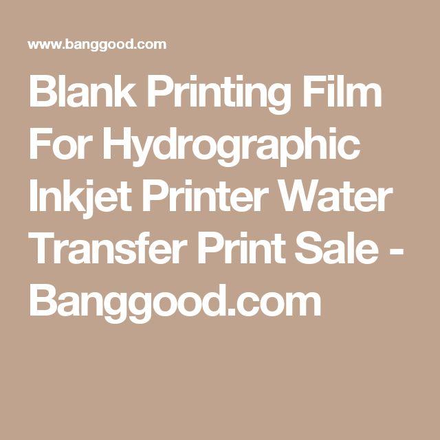 Blank Printing Film For Hydrographic Inkjet Printer Water Transfer Print Sale - Banggood.com