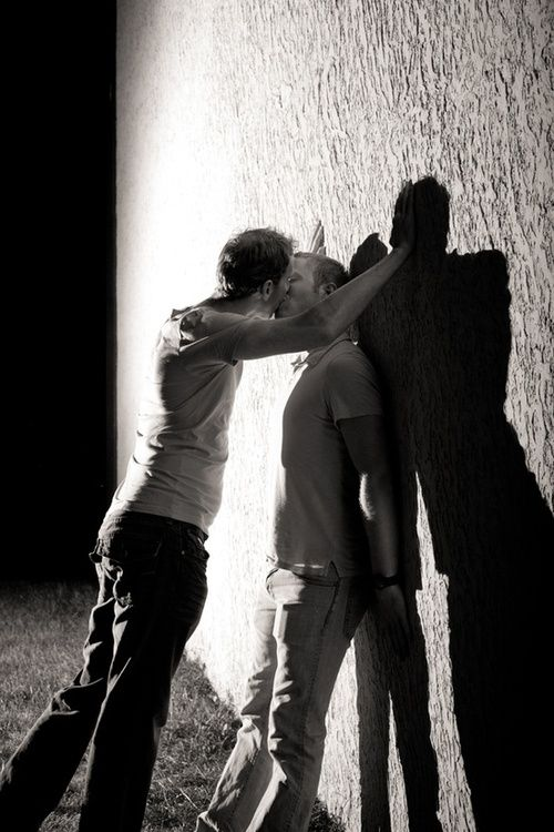 Black & White Feelings LGBTQ session guy couple