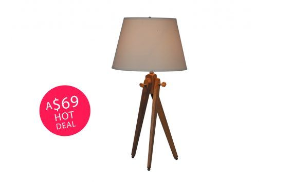 Tripod Table Lamp – White
