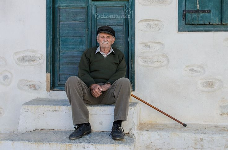 The old man - Amorgos island Greece