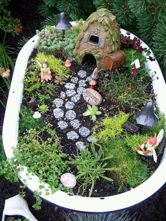 Bathtub Herb Garden