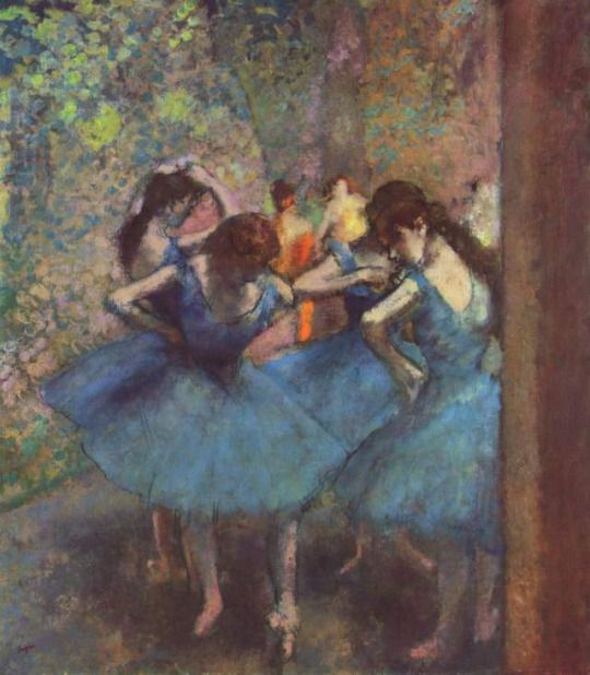 Dancers in Blue by Edgar Degas  Medium: oil on canvas