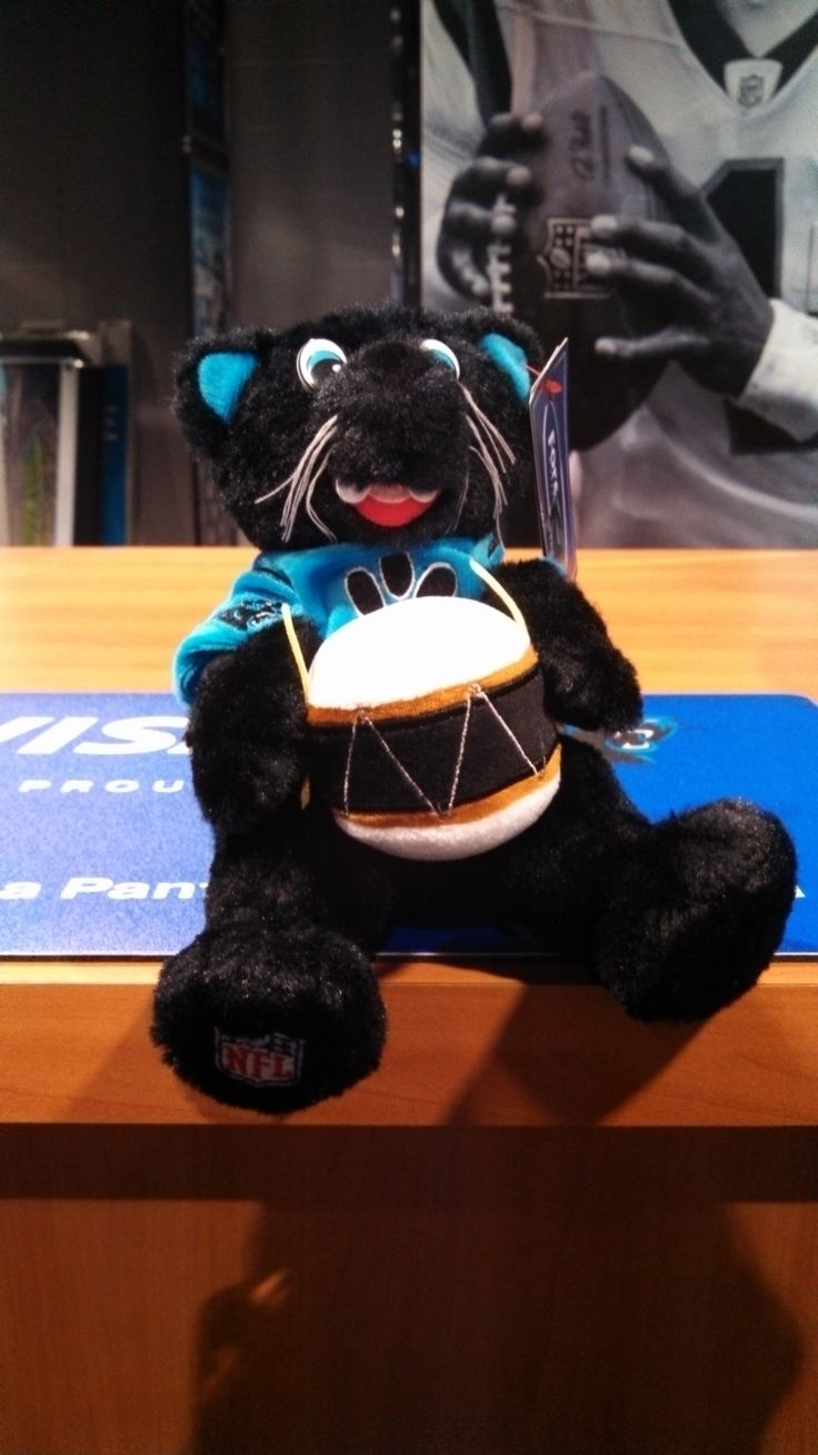 Sir Purr the PurrCussionist! Available in the Panthers Team Store!