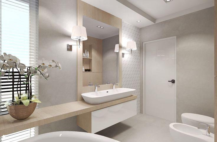 Łazienka dla dwojga - zdjęcie od Agata Hann Architektura Wnętrz - Łazienka - Styl Nowoczesny - Agata Hann Architektura Wnętrz