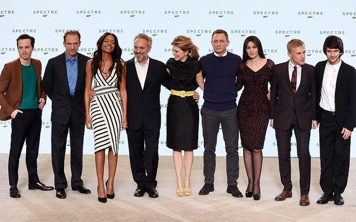 Andrew Scott, Ralph Fiennes, Naomie Harris, Sam Mendes, Lea Seydoux, Daniel Craig, Monica Bellucci, Christoph Waltz and Ben Whishaw
