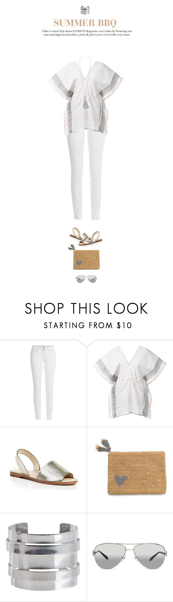 """keep cool"" by maura717 ❤ liked on Polyvore featuring Paige Denim, Lemlem, AERIN, Pieces, Tiffany & Co., tunic, paigejeans and Aerin"