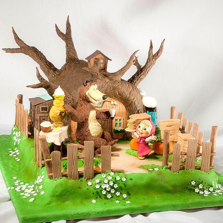 Детский торт Маша и Медведь