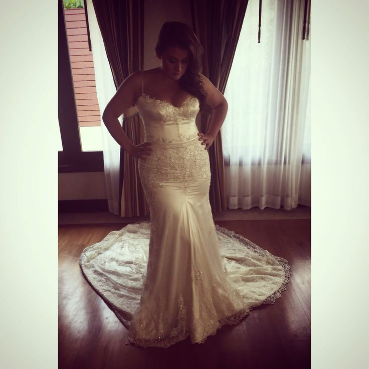 Lace bridal gown by Souraya Couture. Custom designed. Thailand bride!
