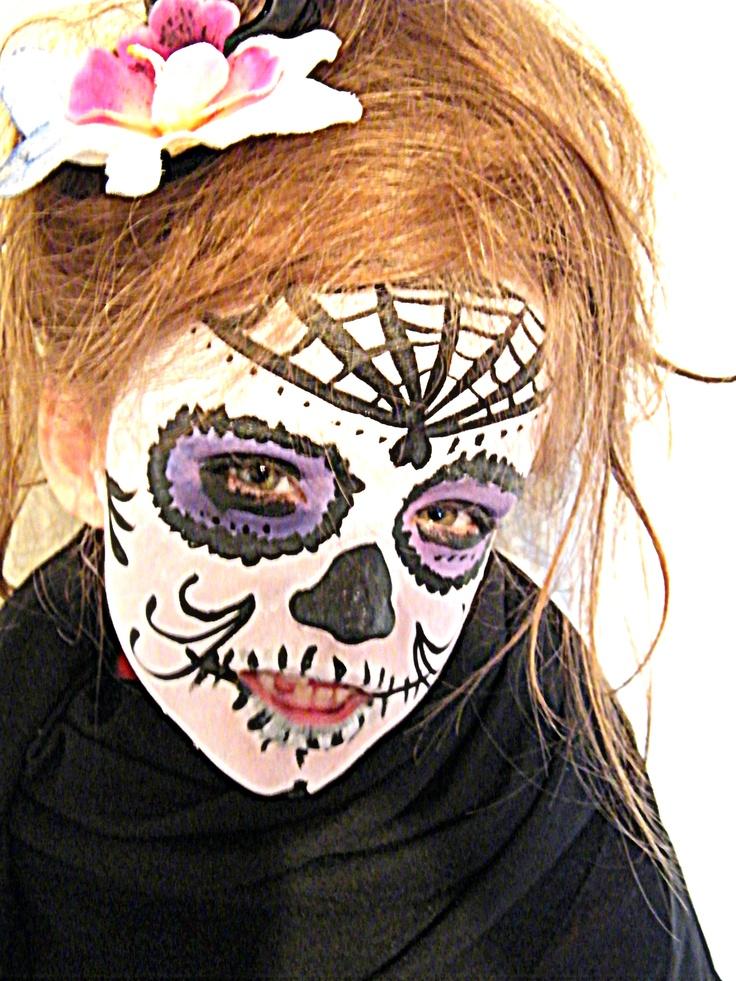 50 best images about halloween on pinterest santa muerte last halloween and sugar skull makeup - Maquillage diablesse fillette ...