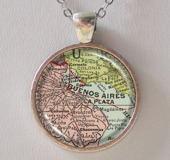 I need this...only Rosario.  Argentina Map Necklace by FantasticDIY,