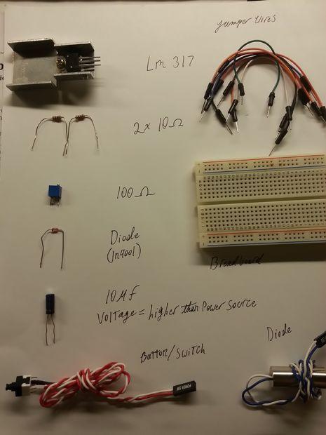 Laser Range Finder Microcontroller Project Circuit