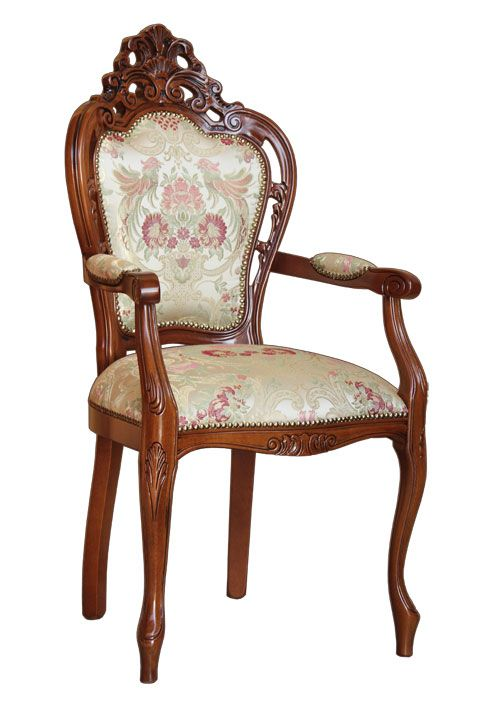 Sedia capotavola traforata - ArteFerretto Splendida sedia capotavola. Ricca di intagli e con imbottitura di elevata qualità. La struttura è eccezionale: accanto alla indiscussa solidità di un telaio in legno massello di faggio