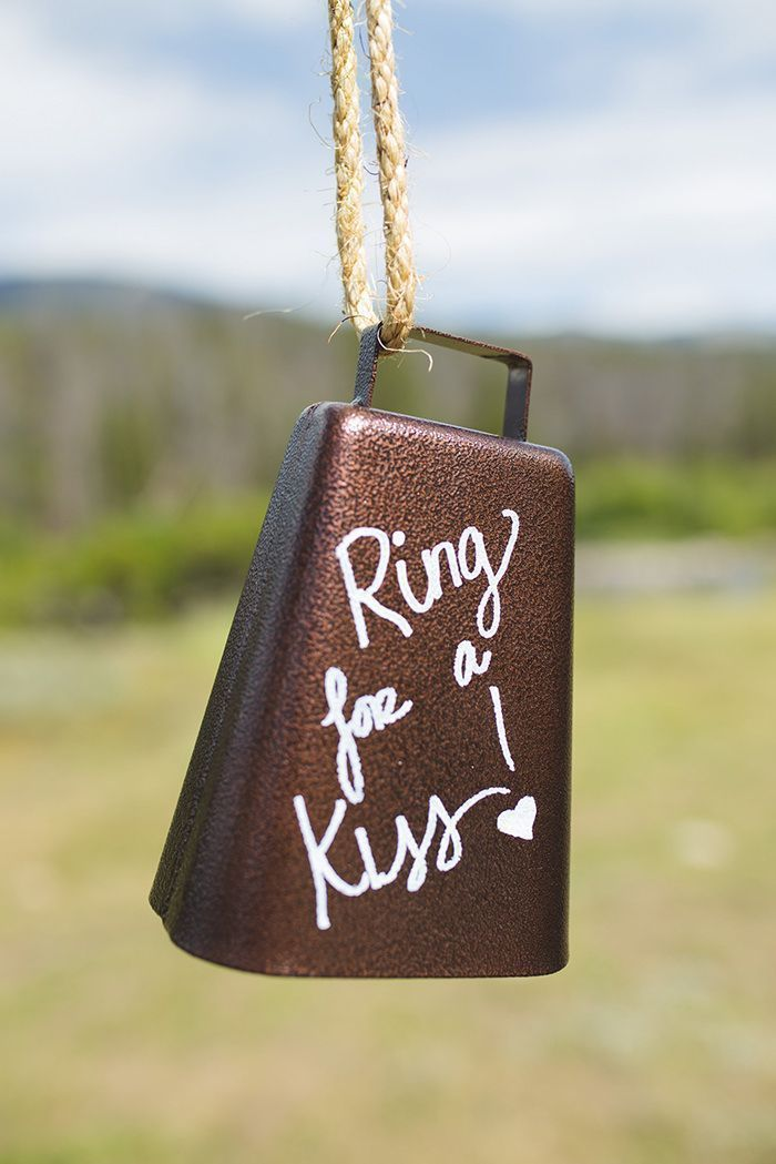 A breathtaking rustic barn wedding - country wedding - Press Print Party! ring for a kiss bell Boho wedding,Affordable wedding decorations ideas, wedding favors, DIY wedding, AA barn Grand Lake, Colorado, Rustic wedding, wedding flowers, Summer wedding, simple wedding theme #barnwedding #weddingfavors #weddingringideas