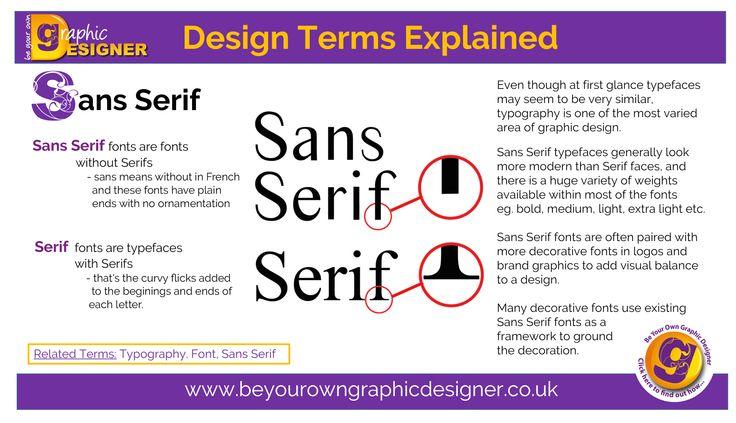 Sans Serif vs Serif Typefaces Graphic Design & Typography