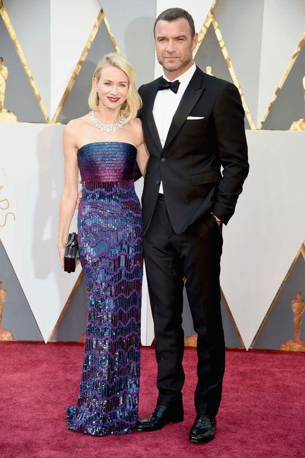 Naomi Watts et Liev Schreiber aux Oscars 2016