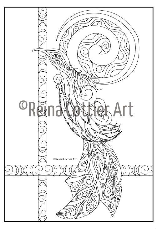 Reina Cottier Art~ Colouring Book.  Tui.  View or buy here: https://www.etsy.com/listing/240707291/reina-cottier-art-colouring-book-for?ref=shop_home_feat_1