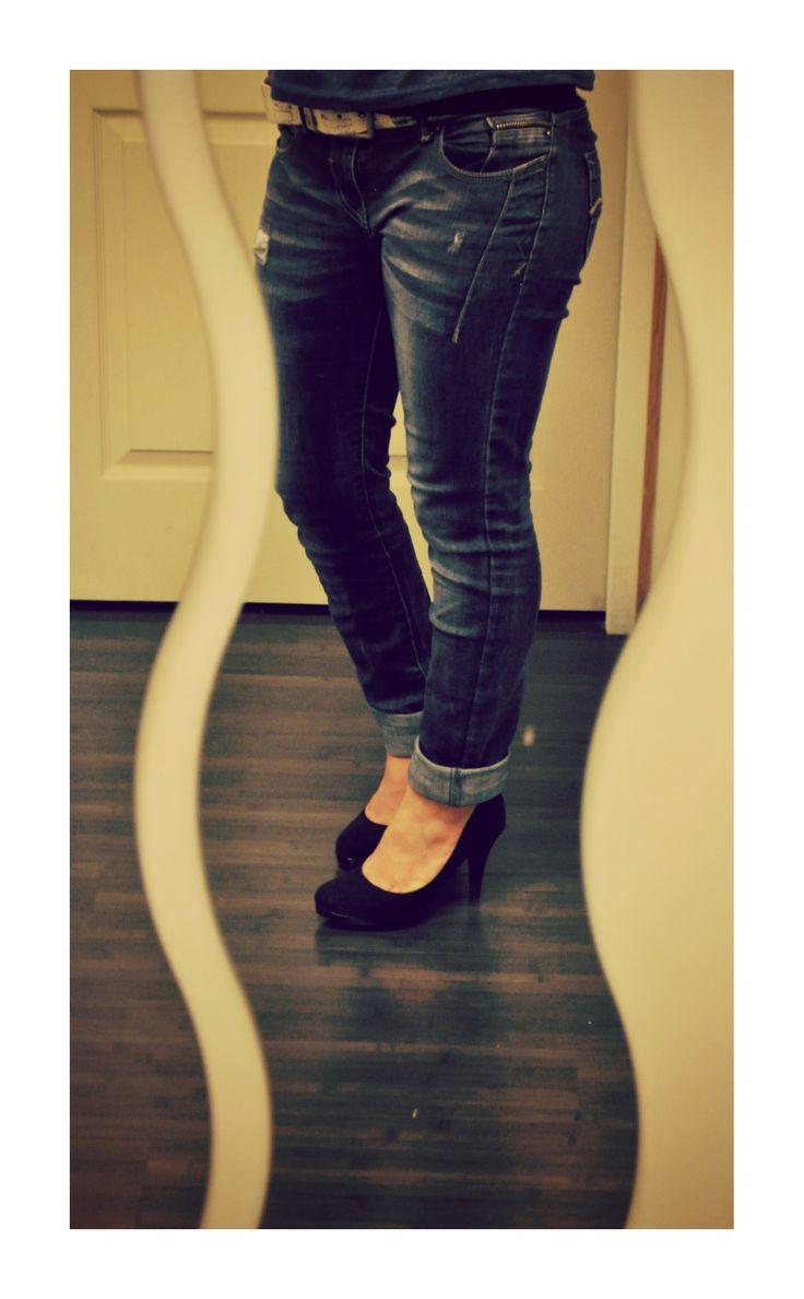 jeans et escarpins