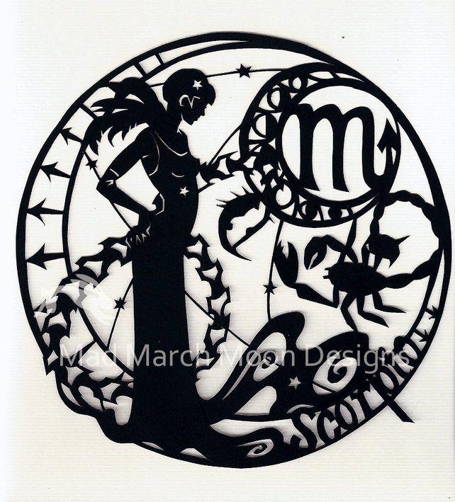 'Scorpio' Zodiac Paper Cut £45.00