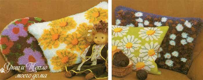 как сделать пушистые подушки с рисунком своими руками