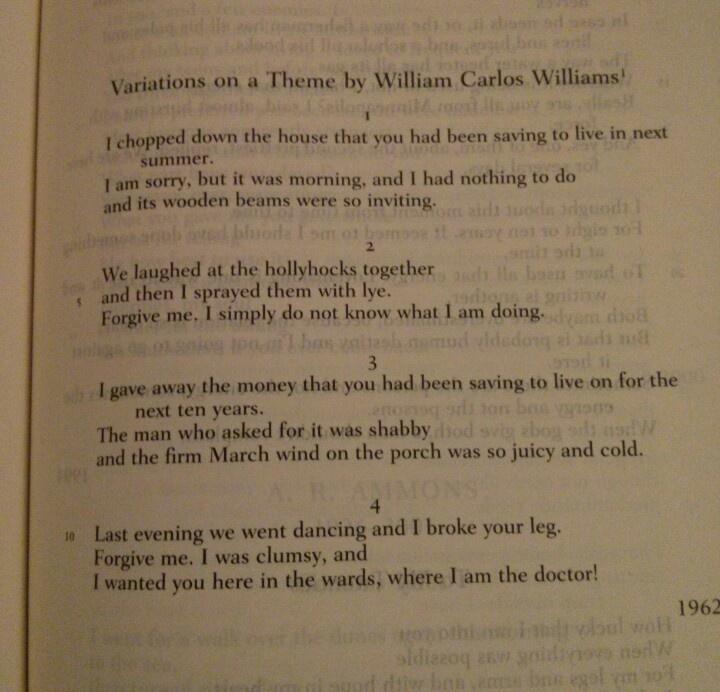 william carlos williams themes