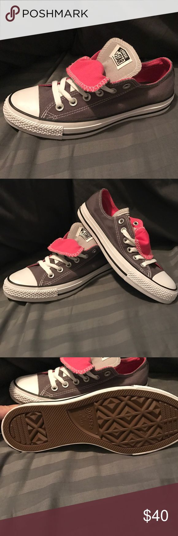 Women's Converse double tongue size 7 - Sample Women's Converse double tongue size 7 - Sample brand new please see pictures Converse Shoes Athletic Shoes