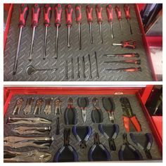 Made my own shadowed tool box using a hot knife and foam floor mats, a cheaper option and even works better than using tool box foam.