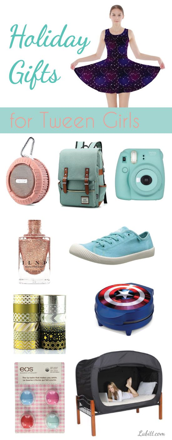 Holiday gifts for middle schoolers. Christmas gifts for tween girls.