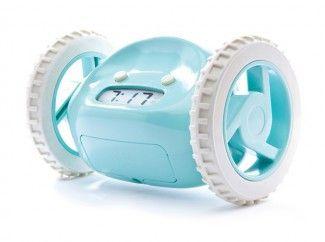 Gezinnig | wekker op wieltjes - Clocky rent rond door je slaapkamer dus je moet je bed wel uit;-)