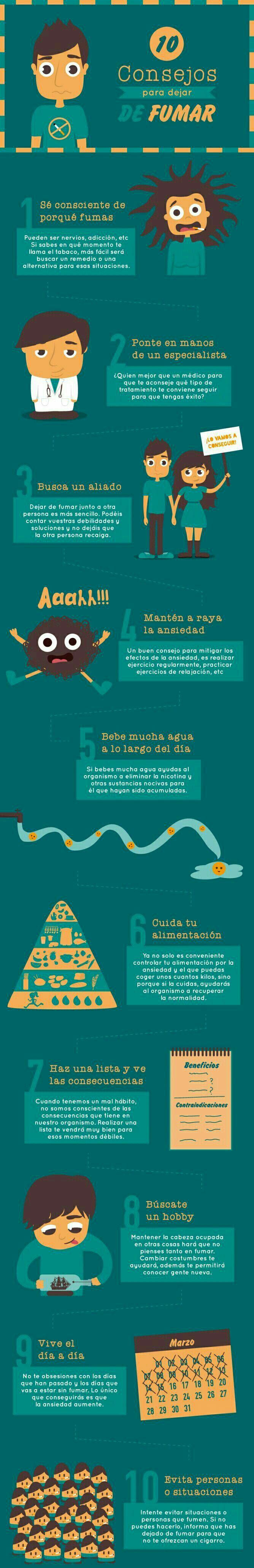 Sigue estos #consejos efectivos para dejar de #fumar. #ConsejosParaDejarDeFumar #Salud