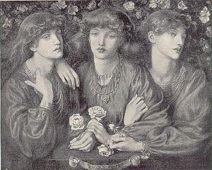 Dante Gabriel Rossetti - Rosa Triplex 1874 (May Morris is the model for all three figures)