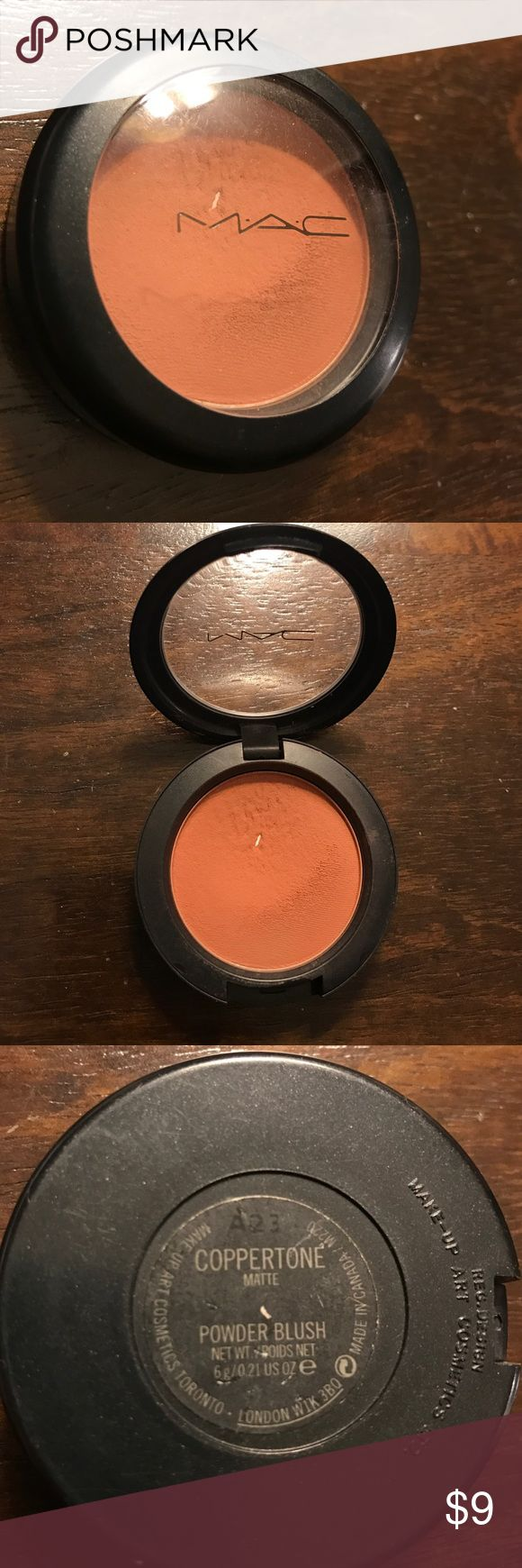 MAC Coppertone matte blush MAC Cosmetics Coppertone blush. Well loved and at a great price. Used as a blush and bronzer. Amazing color! Purchased from a MAC store. MAC Cosmetics Makeup Blush