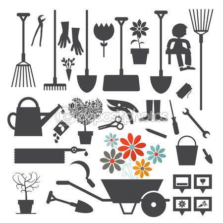 Baixar - Conjunto de ícones jardinagem vector — Ilustração de Stock #63791023