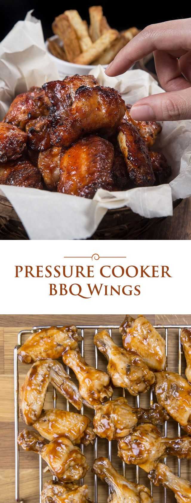 Get ready for the holiday season or football parties with this super easy 2-ingredient finger-licking Pressure Cooker BBQ Wings!