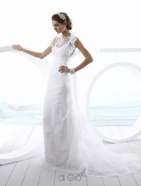 17 best images about white x 2 on pinterest tulle gown for Di gio wedding dress prices