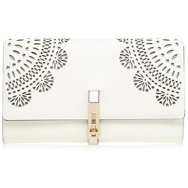 Star By Julien Macdonald Floral Cut Out Clutch ($49) ❤ liked on Polyvore featuring bags, handbags, clutches, party clutches, floral clutches, flower print handbags, flower print purse ve floral print handbags