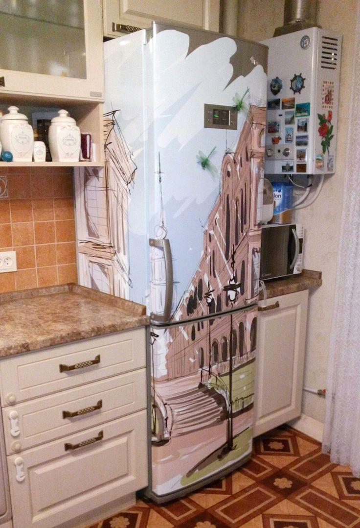 .фотографии наших покупателей. Наклейка на холодильник http://stickers-fridge.com/goods/Town_sketches_2 Наклейка на двери http://stickers-fridge.com/goods/do-58 Наклейка на посудомоечную машину, мини холодильник, дверцу шкафа, балконную или межкомнатную дверь  http://stickers-fridge.com/goods/wh-018 #sticker #vintage #decor #crafts #vinyl #fridge #refregirator #wrap #door #wall