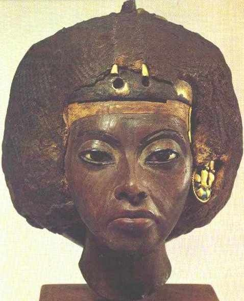 Queen Tiye was the grandmother of King Tut. Her son was Akhenaten, Tut's father, husband of Nefertiti. Tiye reigned during the New Kingdom in the 18th dynasty—a period that is considered one of the most prolific eras of building and culture in Ancient Egypt (Kemet).