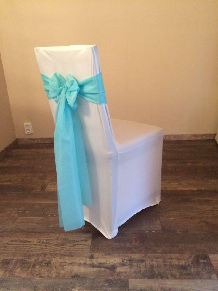 Bérelhető spandex székszoknya menta kék színű selyem masnival Érd