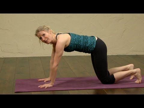 Weight loss Yoga for Beginners. Great video! About 15 minutes, but she says herself that you shouldn't be able to do all of it at first. Sweating!