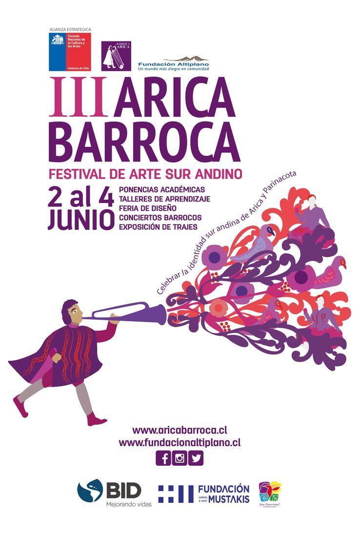 Afiche tercer Arica Barroca Año: 2016