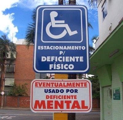 Podiam fazer um para estacionamento de idoso ( eventualmente usado por pessoas com menos de 60 mas  com demência senil)