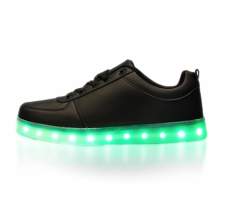 Our black LED light up shoes for kids change colors. With the press of a  button the shoes light up and change colors. Check out our shoes today!