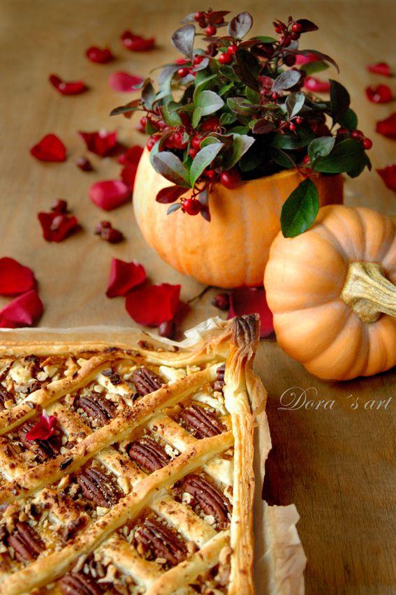 Dora´s art: Tekvicový koláč s pekanovými orechmi