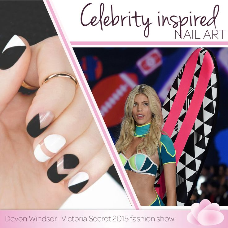 Jump on the bandwagon and join the latest ‪#‎NailTrend‬. Devon Windsor inspired us with this negative space ‪#‎NailArt‬. ‪#‎VictoriaSecret‬ Which nail trend do you prefer?