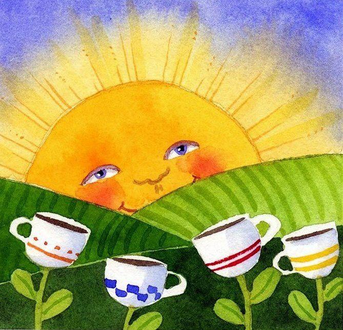 Открытки с добрым утром прикольные веселые смешные летние, анимация