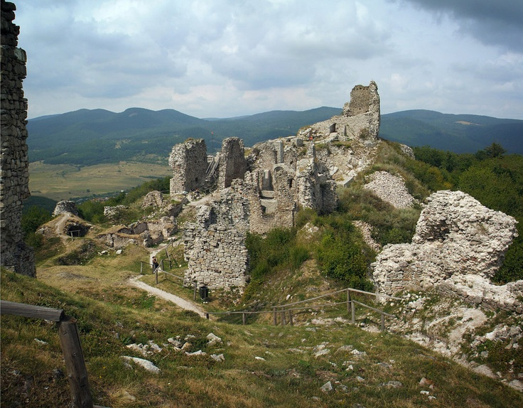 Regéc Total - Ruins of Castle Regéc can be found in the Hungarian Zemplen Mountains, Hungary.